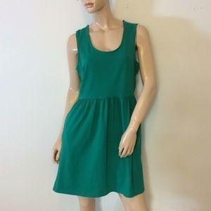 Cynthia Rowley Large Lg green beautiful dress